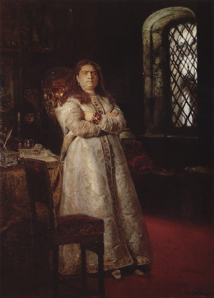 """Tsarevna Sophia Alexeievna painted by Ilya Repin "" In the end we must deduce Peter´s attitude towards his half-sister from circumstantial evidence. Weber records a speech of Peter´s to the effect that Sophia was ""a princess endowed with all the..."