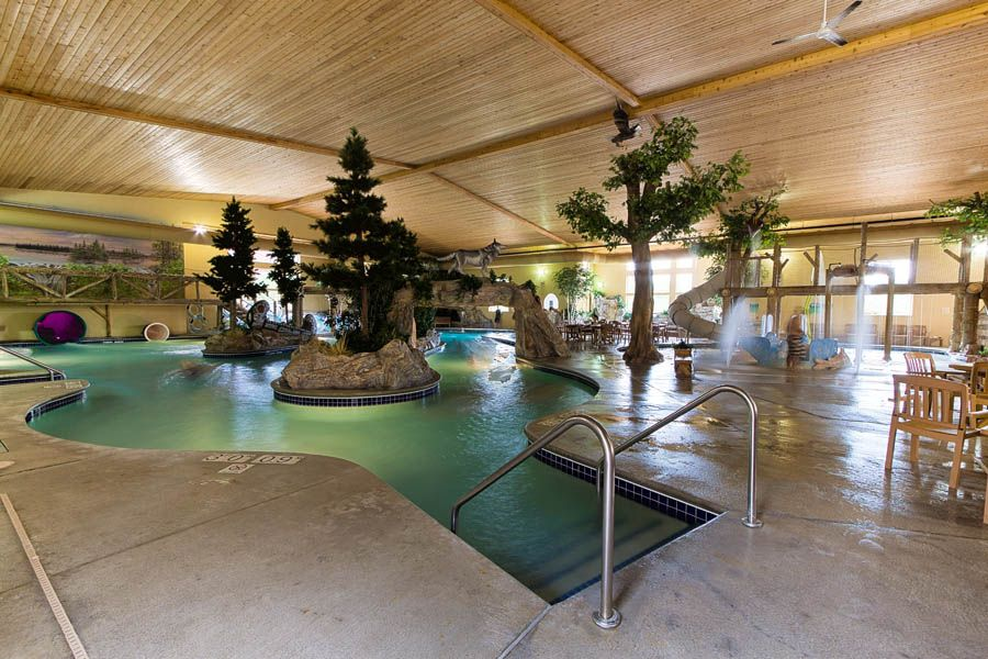 Thumper Pond Resort Ottertail Mn Amazing Indoor Pond