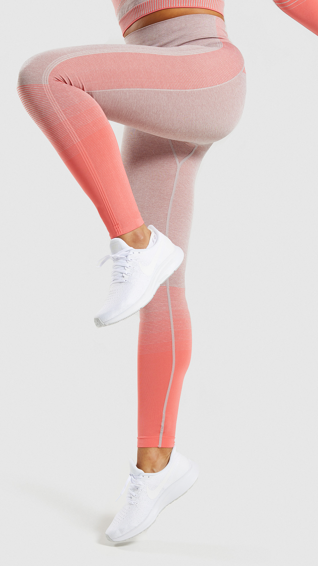 733cc8aa847c85 Colour gradient stripes and contrast panels down the leg• Glute and leg  enhancing seamless design• DRY technology• 59% Polyester, 31% Nylon, 10%  Elastane.