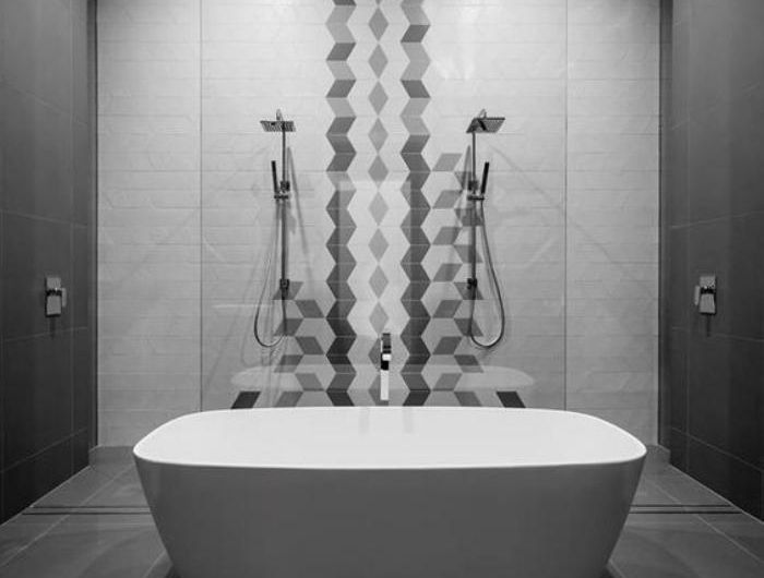 59 salles de bain chic qui vous montrent le beauté du carrelage gris