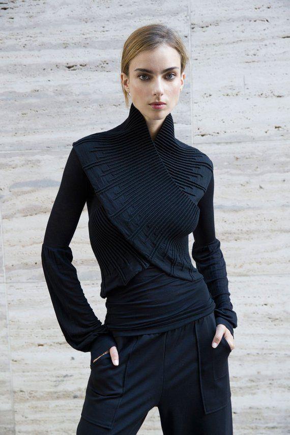 62087f59a0b7 NEW Stylish Bolero   Elegant Wear   Knit Bolero   Sleeveless Cardigan    Cotton Sweater   Black Top   Marcellamoda - MC1141