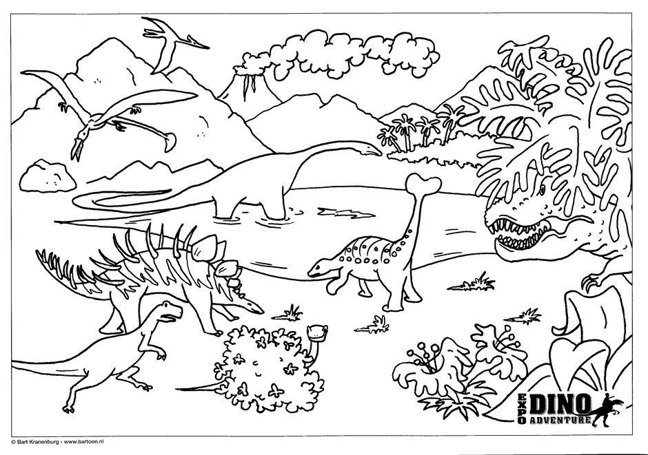 Kleurplaat Dino Kleurplaten Coloring Pages Pinterest