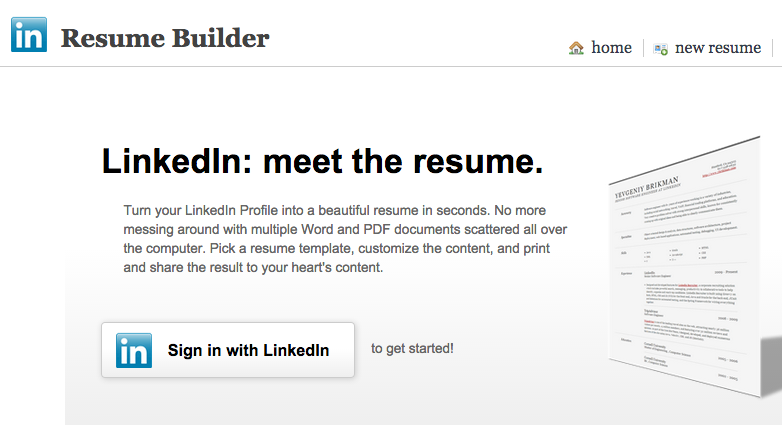 LinkedIn Resume Generator Turn your LinkedIn Profile into