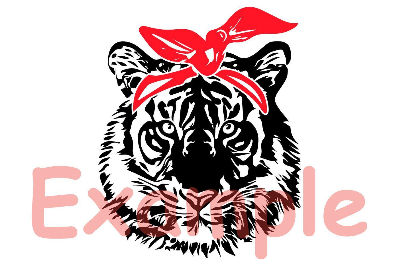 Wild Tiger Head bandana SVG wild animal african king zoo