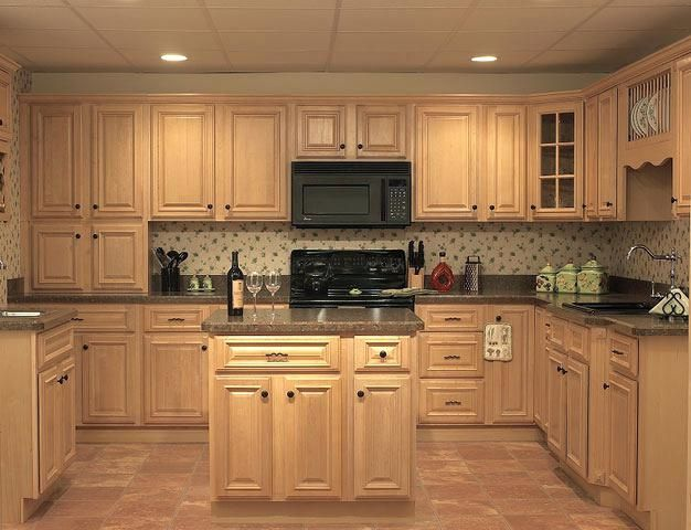 Light Maple Cabinets Granite Countertops With White Photos Of
