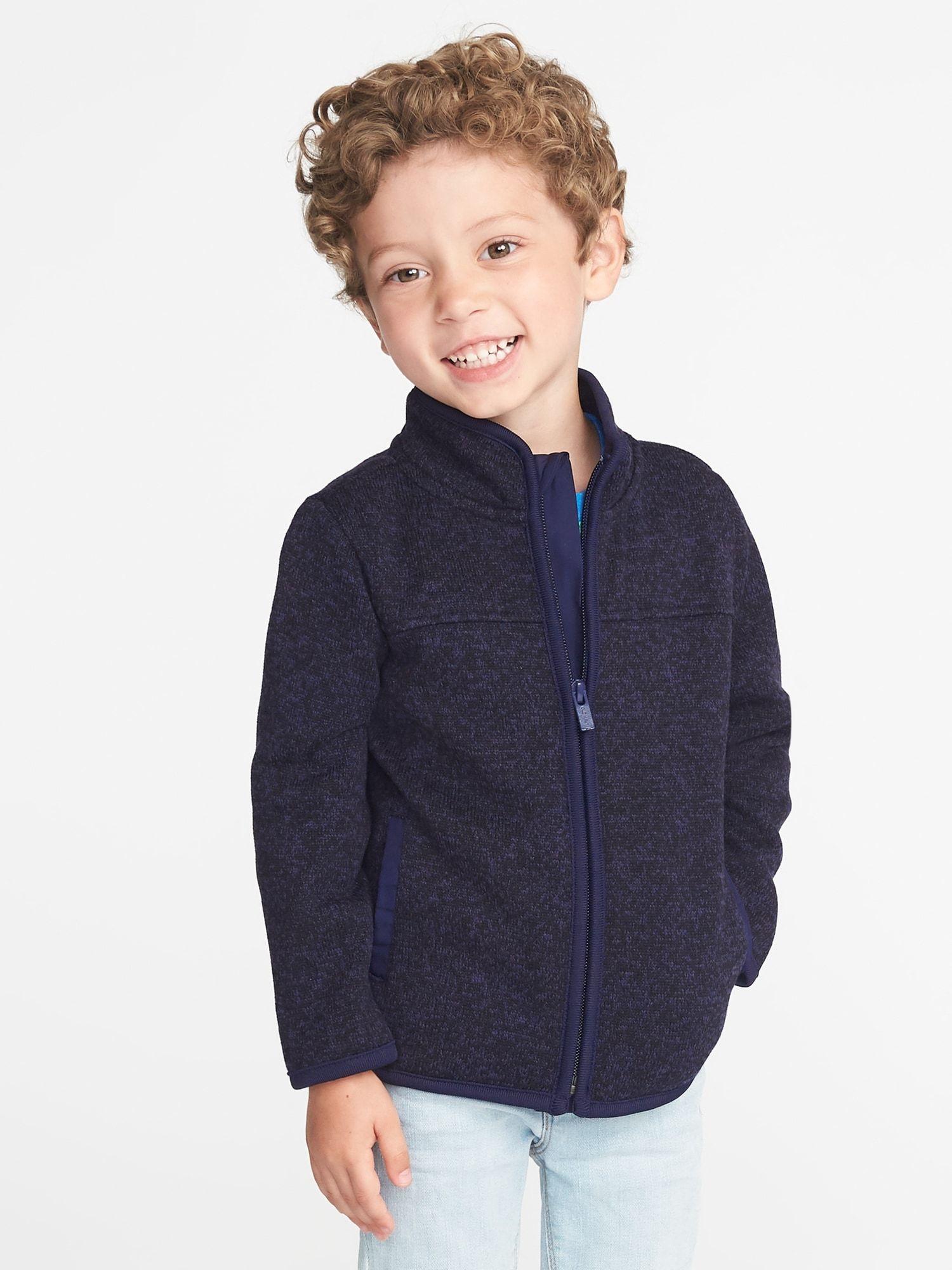 Fleece Knit Jacket For Toddler Boys Old Navy Kids Designer Dresses Boy Outerwear Toddler Boy Haircuts [ 2000 x 1500 Pixel ]