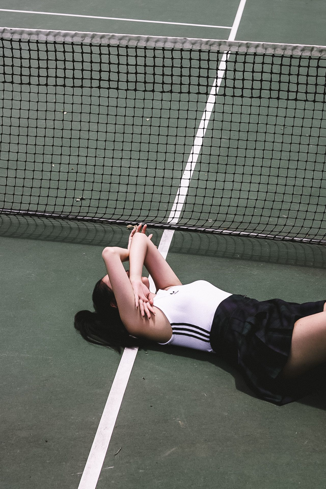 Some More Pictures From A Friend At A Tennis Court Tennis Court Photoshoot Roller Skating Outfits Urban Photography