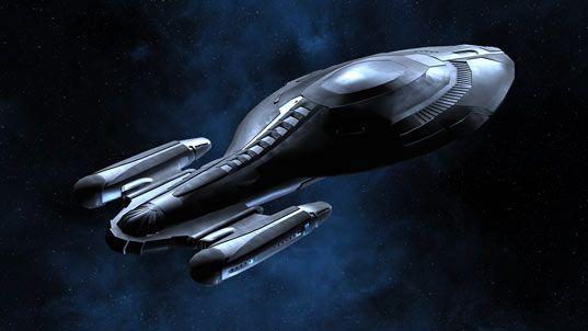 USS Voyager with ablative armor deployed. #StarTrek