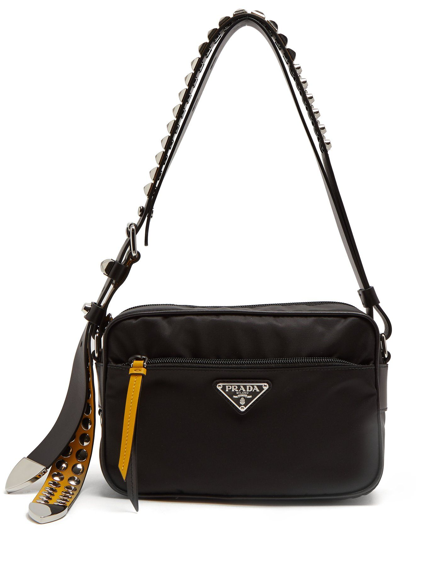 e6f69572e40e ... new zealand stud embellished strap nylon cross body bag prada  matchesfashion us 7dd44 cd96a