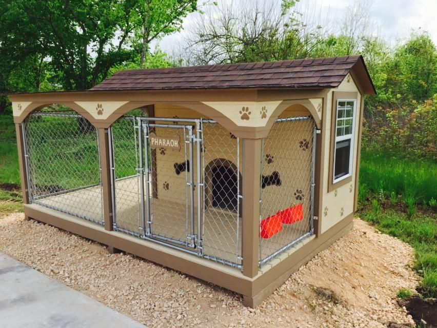 Custom Dog House Kennel Chain Link Fence Outdoor Dog House