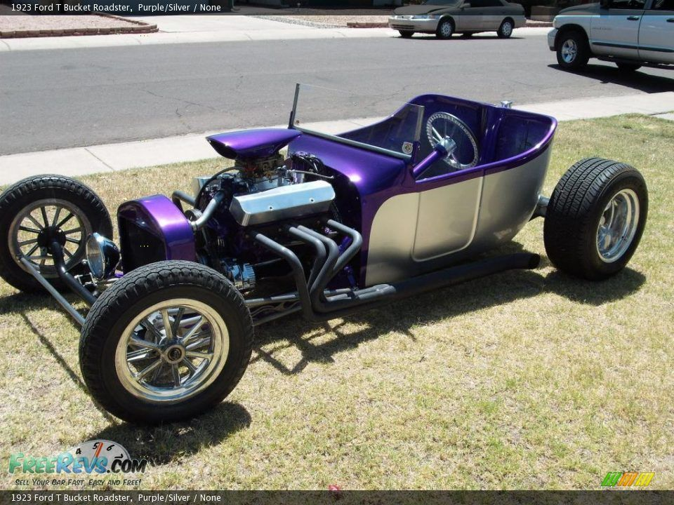 1923 Ford T Bucket Roadster Purple Silver None T Bucket