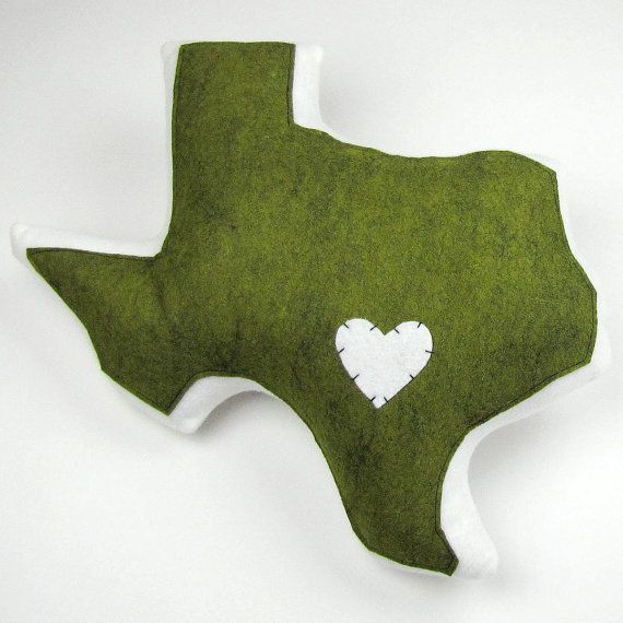 Customizable Texas State Pillow by lovecalifornia on Etsy