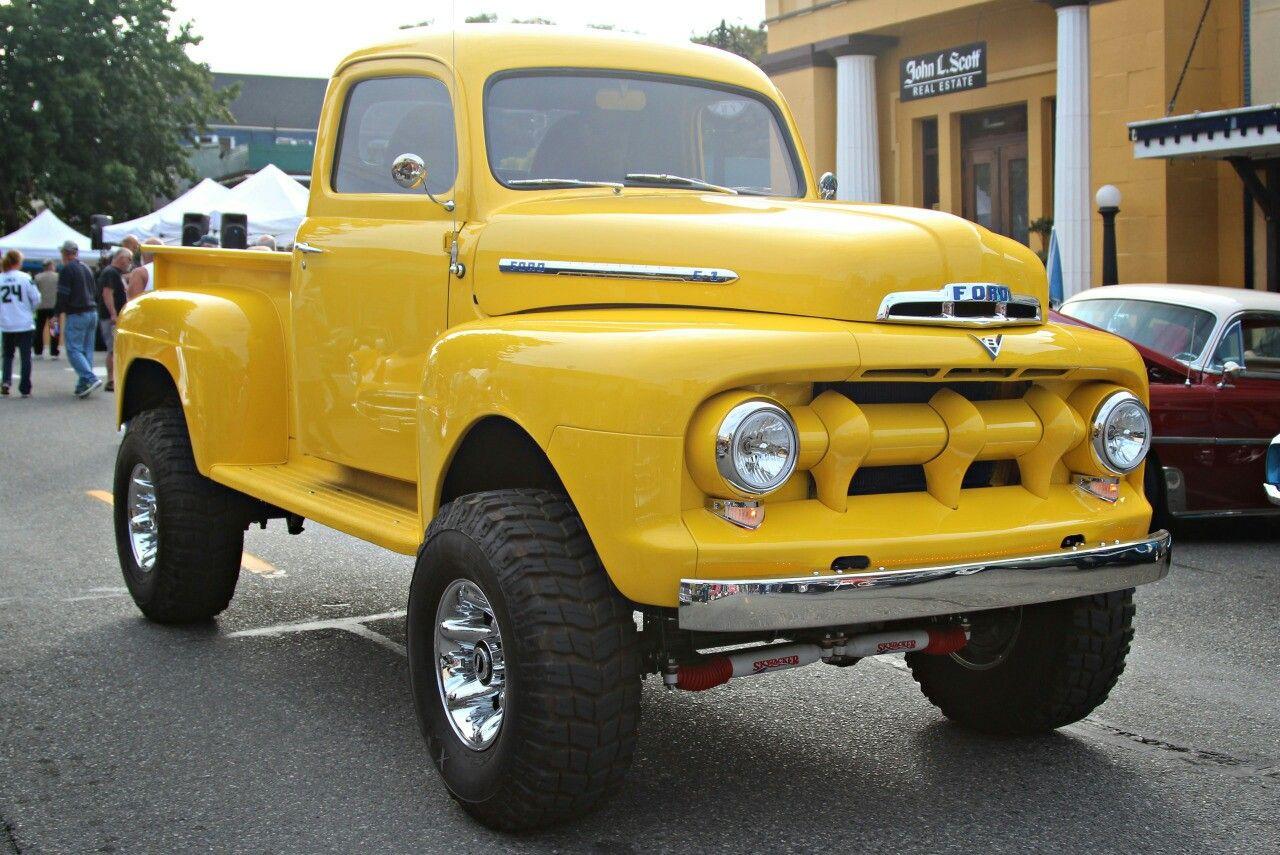 1951 Ford 4x4 Pickup Truck Ford Trucks Ford Pickup Trucks