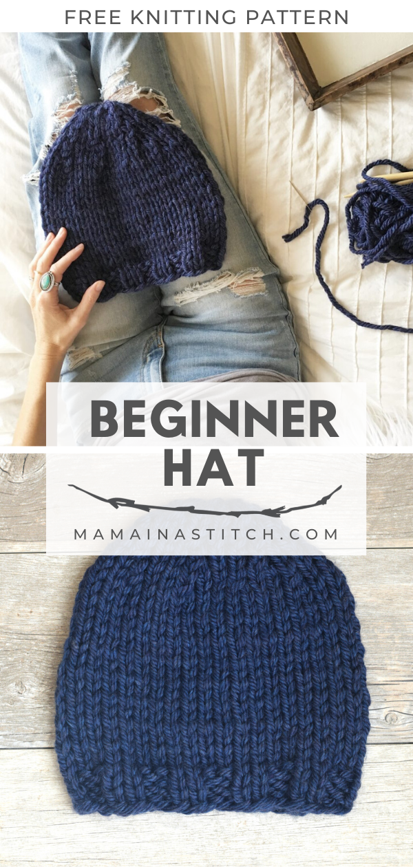 Perfect Beginner Knit Hat Free Pattern