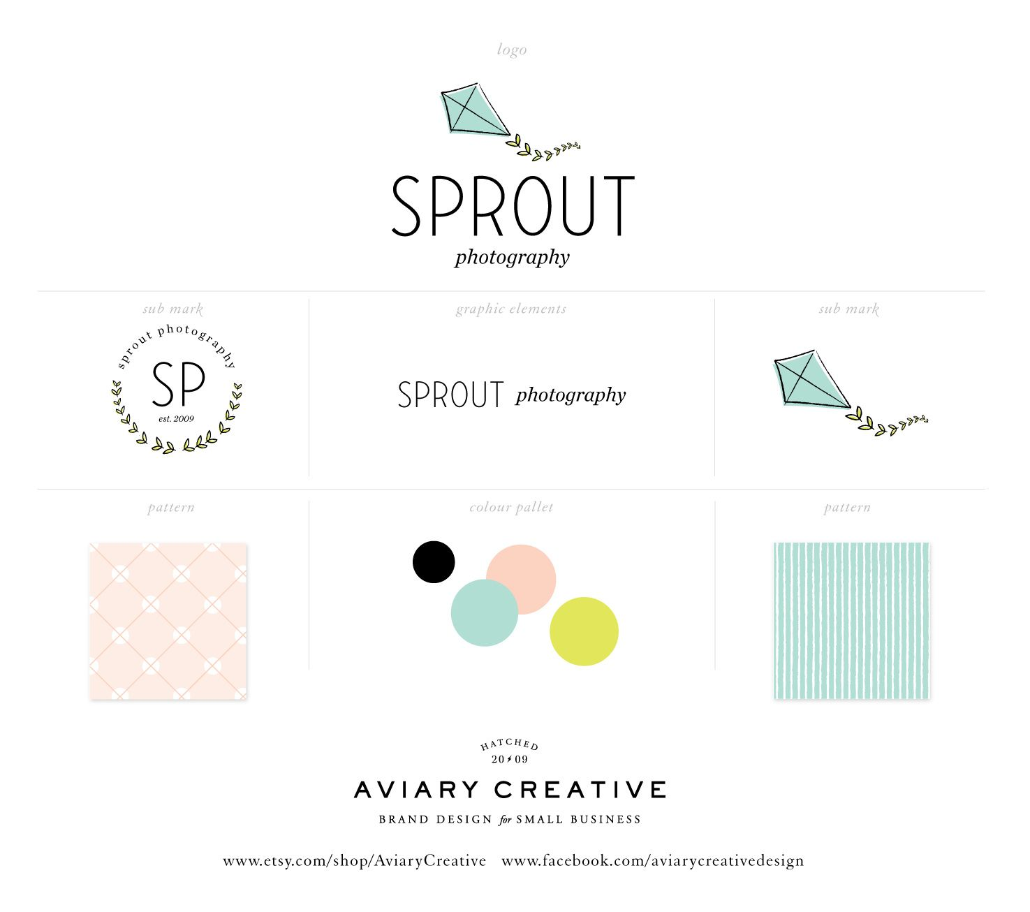 sprout photography brand board www etsy com shop aviarycreative www rh pinterest com Website Style Guide Example Website Style Guide Example