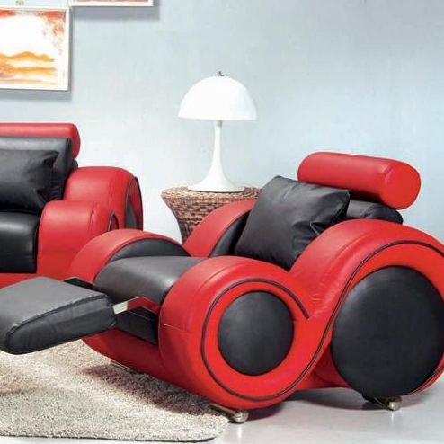Hokku Designs Hematite Leather Chair Red Leather Sofa Leather Sofa Set Modern Leather Sofa