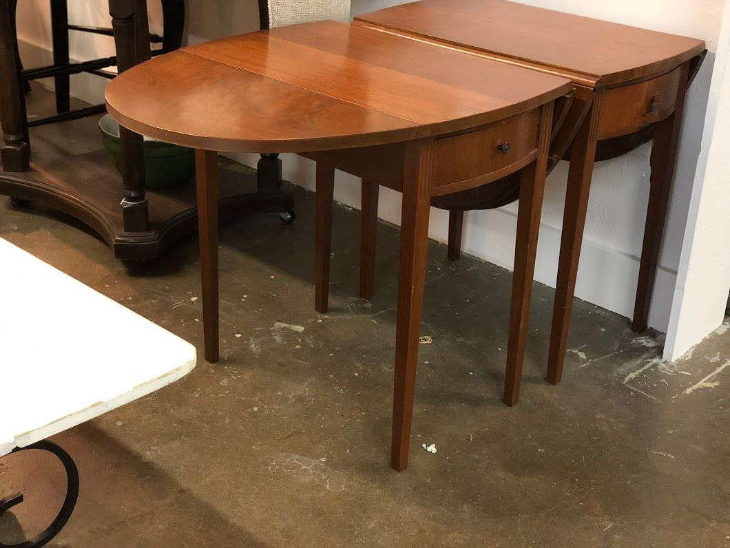 "Dining Room Table With Drop Down Sides Gorgeous Pair Drop Leaf Side Tables On Sale 24"" Deep X 25"" High X 15"" Wide Inspiration Design"