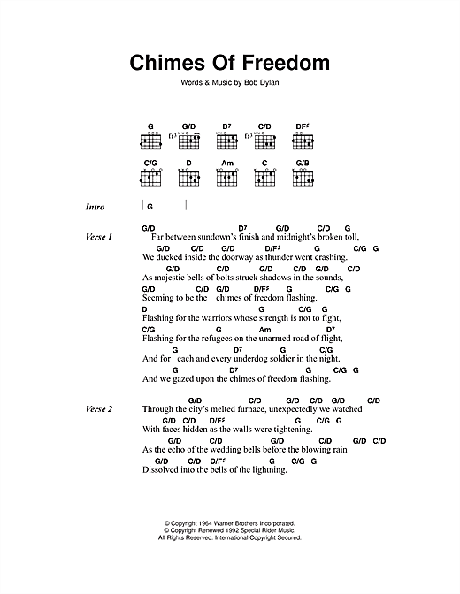 Search Results For Bob Dylan Chimes Of Freedom 78495 Music Notes Sheets Score Pdf Lyrics And Chords Music Notes Bob Dylan