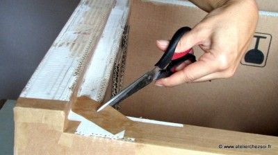 Technique Finition D Un Meuble En Carton Meuble En Carton Carton Et Cadre En Carton