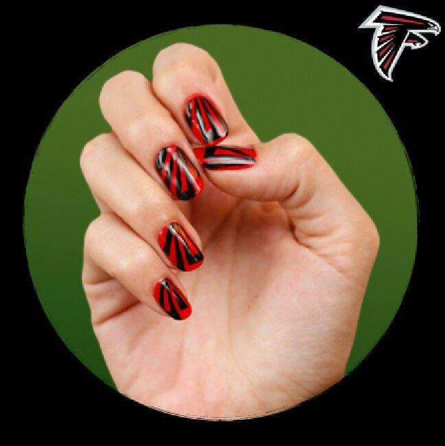 Football Nails Via Cover Atlanta Falcons