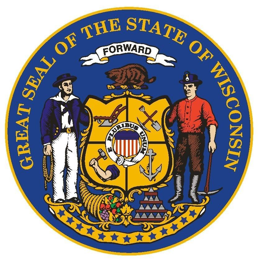 Wisconsin State Seal Sticker MADE IN THE USA R564