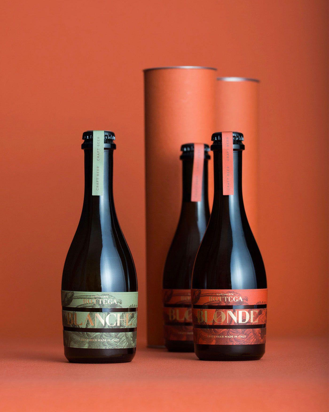 La Bottega Restaurant Visual Identity Designed By Kidstudio Identity Designed In 2020 Beer Packaging Design Beer Beer Packaging