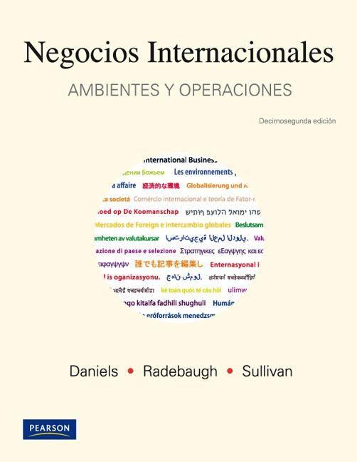 Titulo Negocios Internacionales Ambientes Y Operaciones Autores Daniels Radebaugh Sullivan Marketing Pie Chart Books