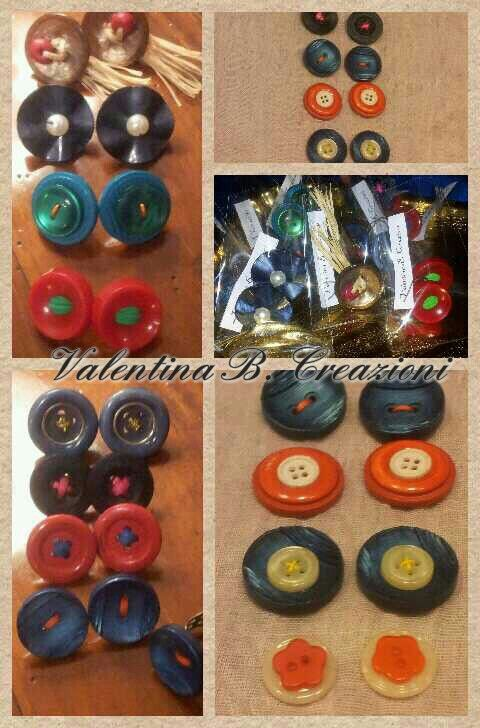 #vintagebuttons #earrings #handmade by #valentinabcreazioni
