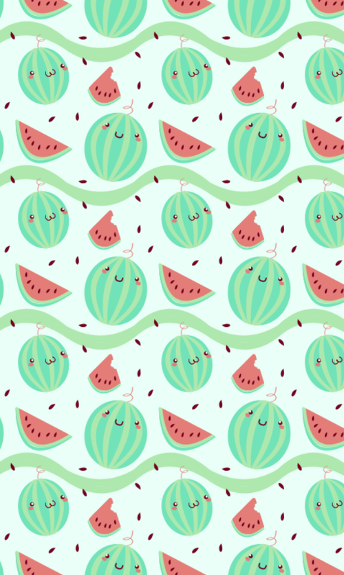 Kawaii Watermelon Wallpaper