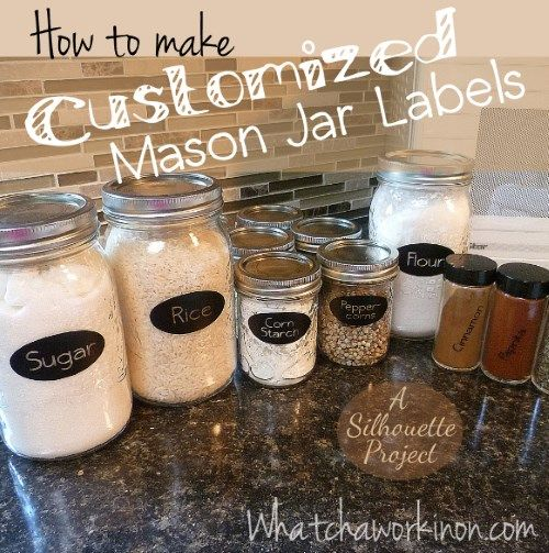 How to make kitchen labels for mason jars and spice jars Download