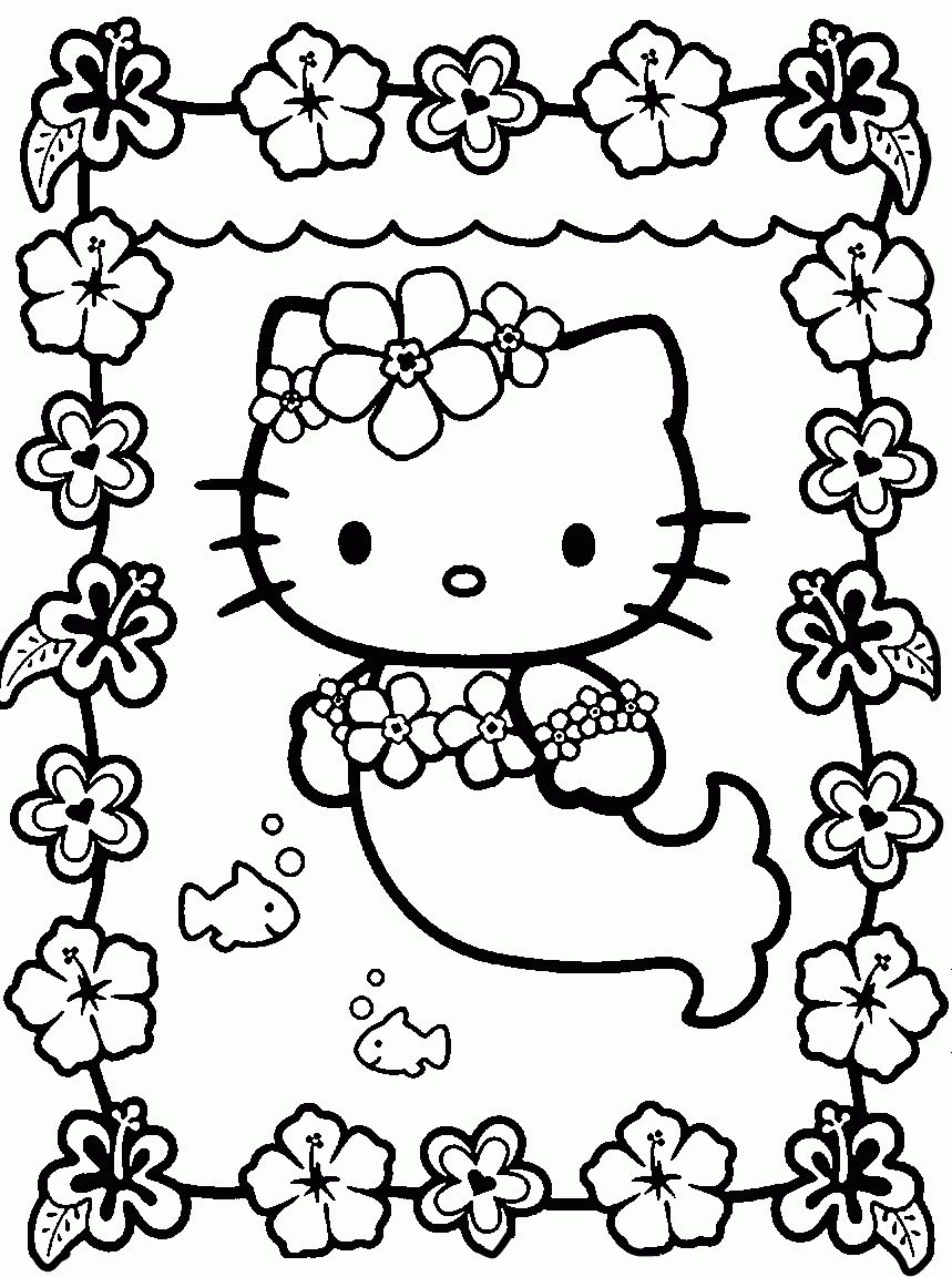 Hello Kitty Coloring Sheets Free Coloring Pages Allow Kids To