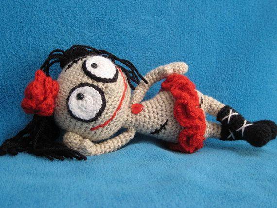 Halloween Amigurumi Crochet Pattern : Amigurumi crochet pattern voodoo doll mister and misses voodoo dolls