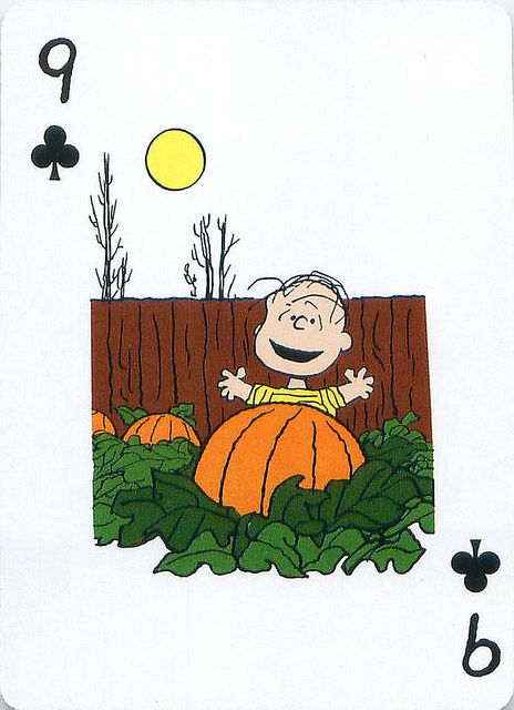 Peanuts Great Pumpkin Playing Cards Snoopy Images Charlie Brown