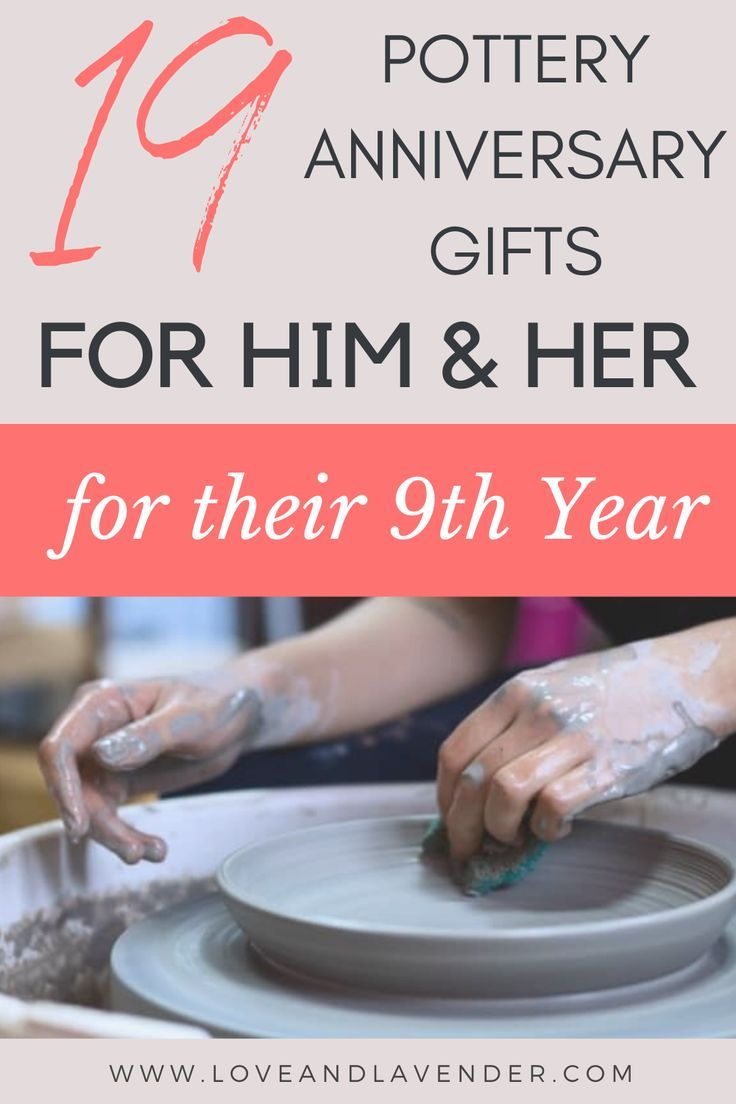 19 pottery anniversary gifts 9th year for him her in