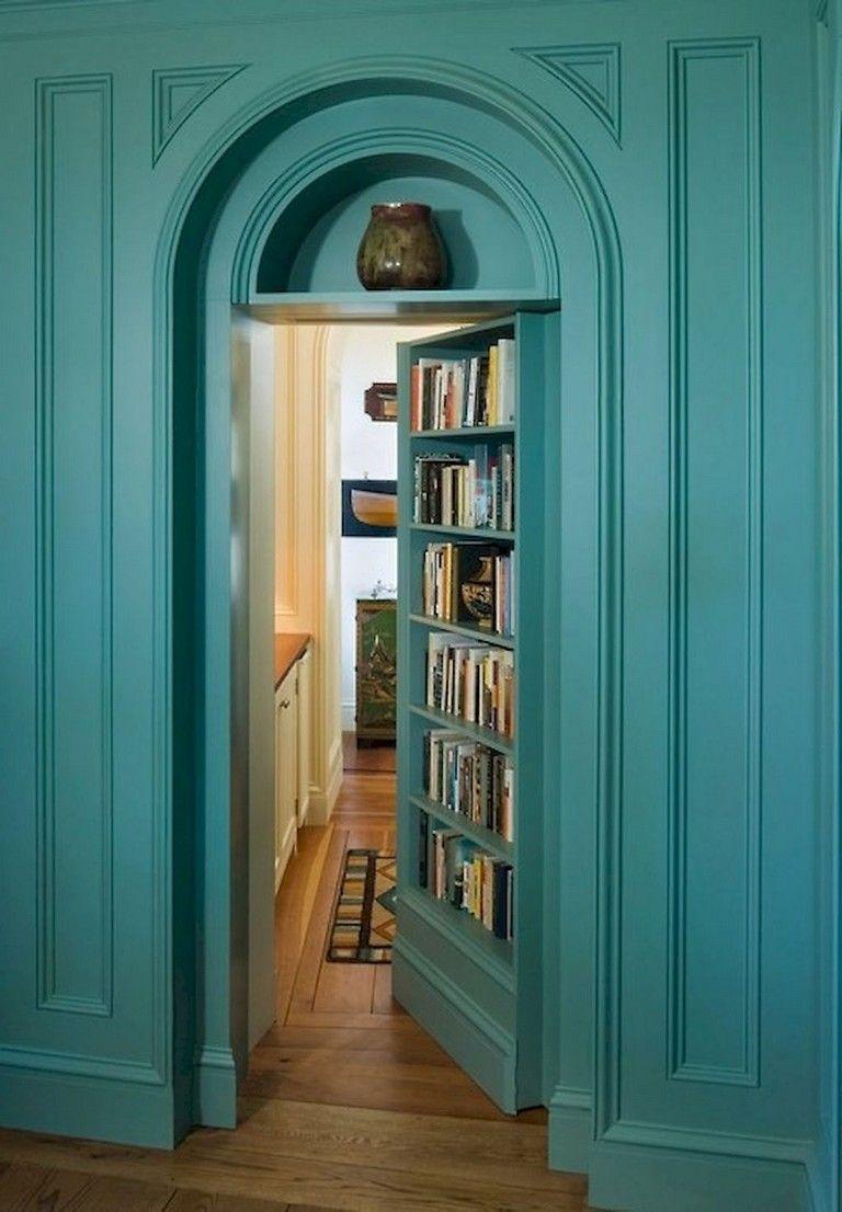 26+ Exciting Creative Hidden Door Design For Storage And