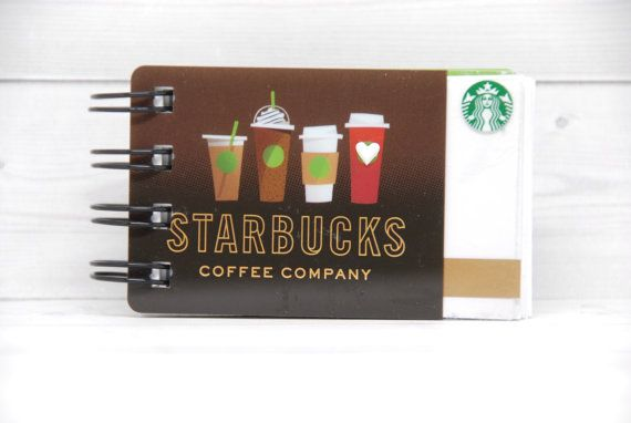 STARBUCKS Notebook Gift Card Covers front and back