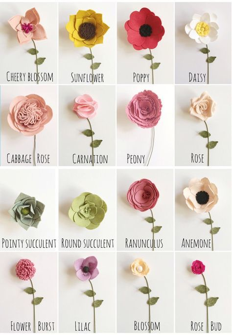 Build Your Own Custom Felt Flower Bouquet от Alisonmichel