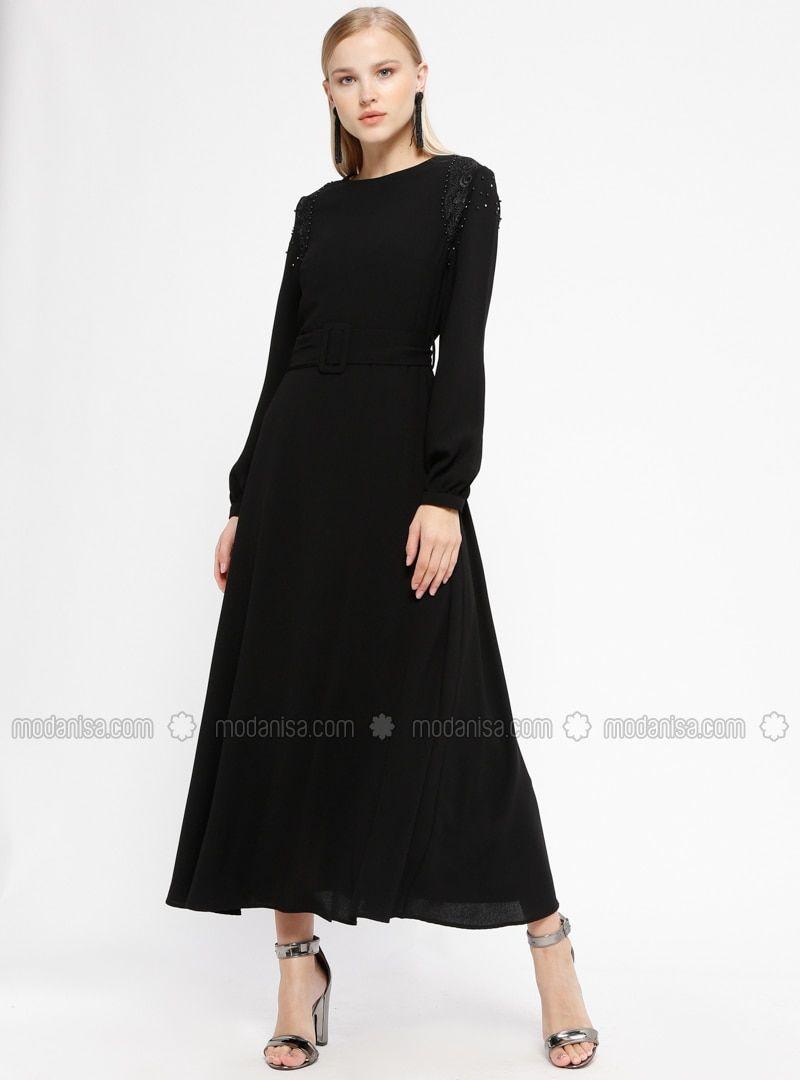 ce61d22aad7a6 Dantelli Elbise - Siyah | stillerim | Siyah