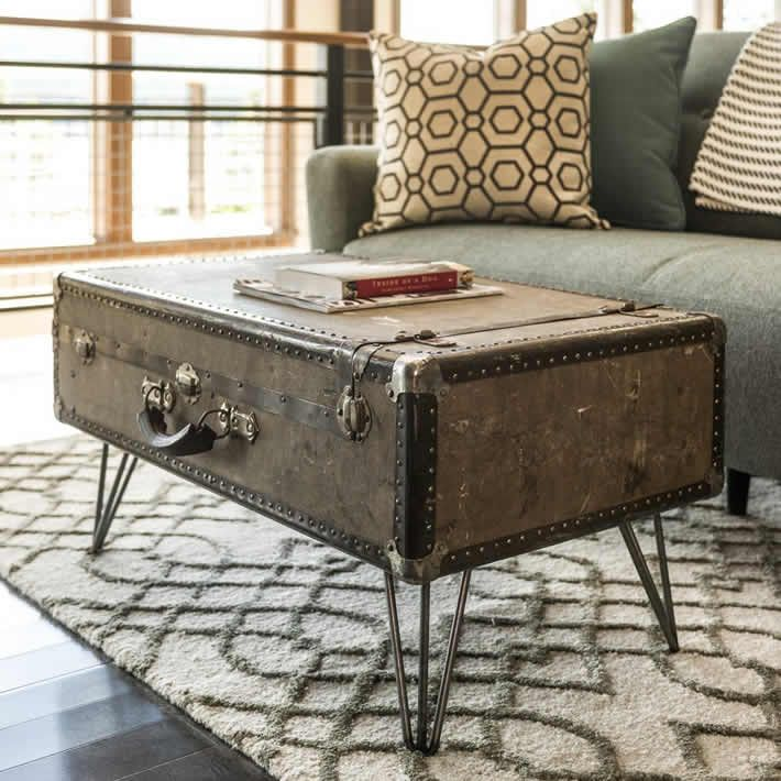 Diy Suitcase Coffee Table By Dylan Eastman Suitcase Table