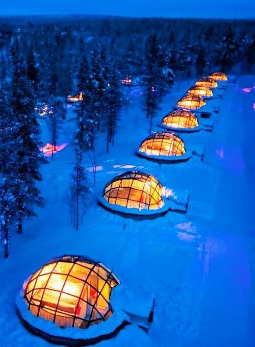 Sie können ein Glas-Iglu in Finnland mieten, um das Nordlicht zu beobachten - Beleuchtung #shirtsale