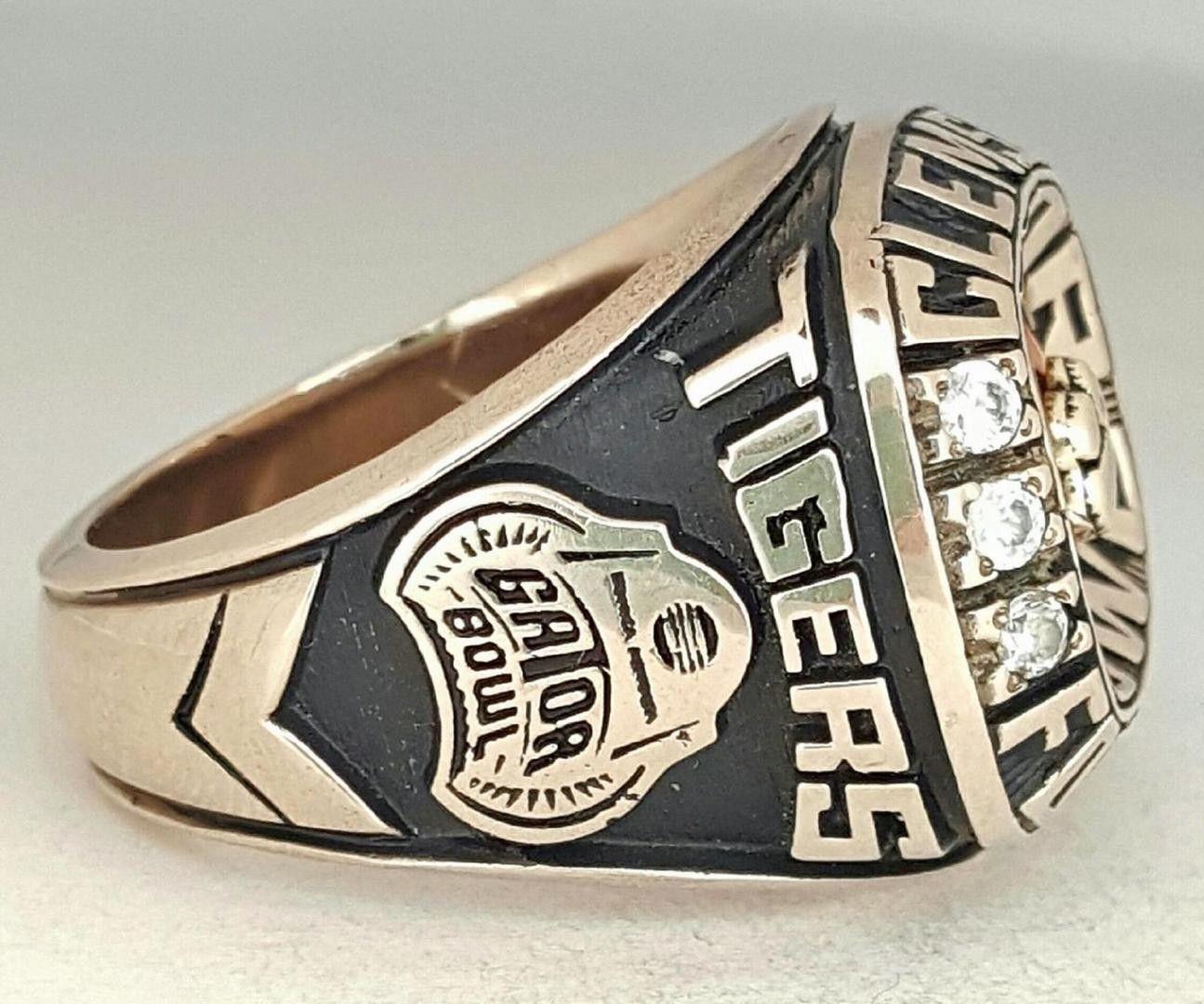 2008 Clemson Tigers Acc Gator Bowl Football Championship Ring Gator Bowl Clemson Tigers Championship Rings
