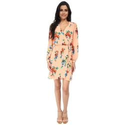 3074318-p-2x Best Deal Brigitte Bailey  Demri Lux Dress (Spring Peach Floral) Women's Dress