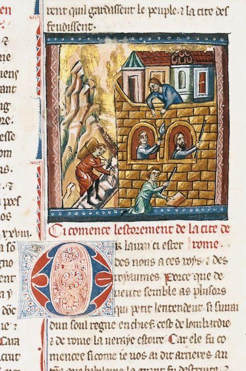 Fig 17 Histoire Ancienne Jusqu A Cesar Bruxelles Bibliotheque Royale Albert Ier Ms 10175 F 172 Construction D Histoire Ancienne Histoire Royal Albert
