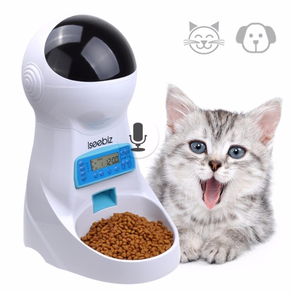 Automatic Pet Feed With Voice Recording In 2020 Food Animals Pet Food Dispenser Automatic Cat Feeder