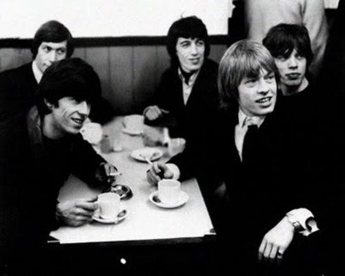 Famous People Drinking Tea- The Stones | Drinking tea, Rolling stones, People  drinking coffee