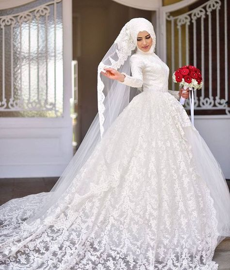 Les robes blanches hijab