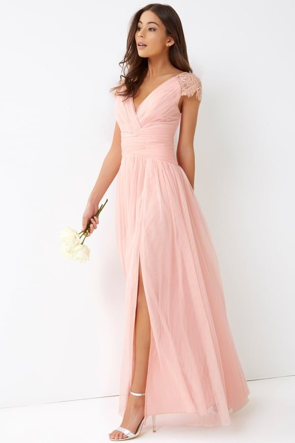 73af1f31df Pink Tulle Maxi Dress in 2019 | Dresses | Bridesmaid dresses, Pink ...