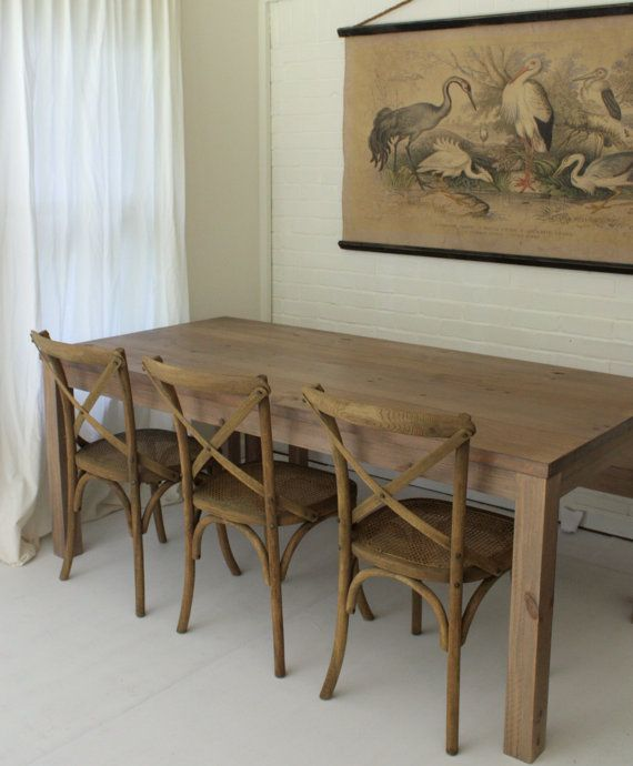 Reclaimed Wood Parsons Table Reclaimed Wood Dining Table Solid Wood Table Dining Table