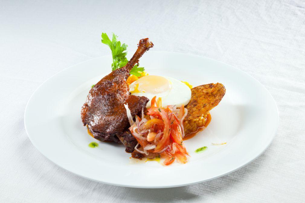 Nuestro plato Nacional Majadito de Pato Visitanos www
