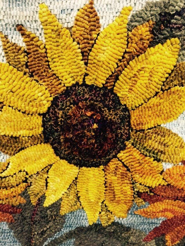 Glorious Sunflower Rugs To Hook Rug Hooking Patterns